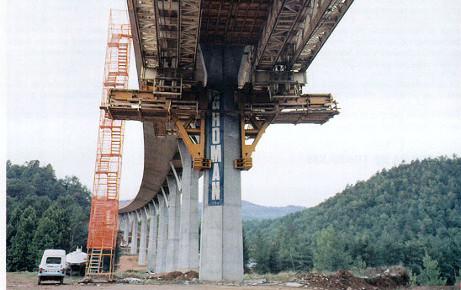 Viaducto de Osormort - Ejemplos de uso del hormigón